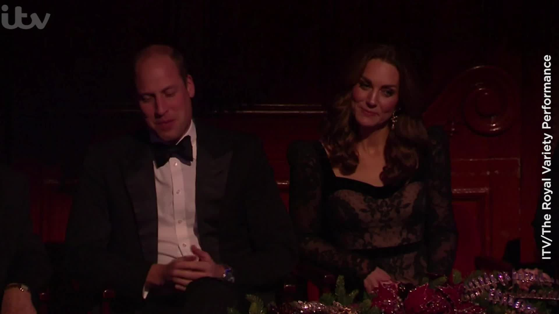 Prince William and Kate Middleton were butt of 'painful' jokes during Royal Variety Performance