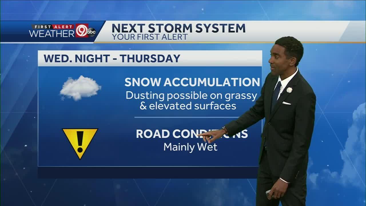 Rain, snow likely Wednesday night, Thursday morning