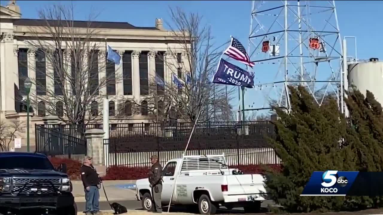 All quiet as few Trump supporters show up to Oklahoma Capitol on Sunday ahead of inauguration