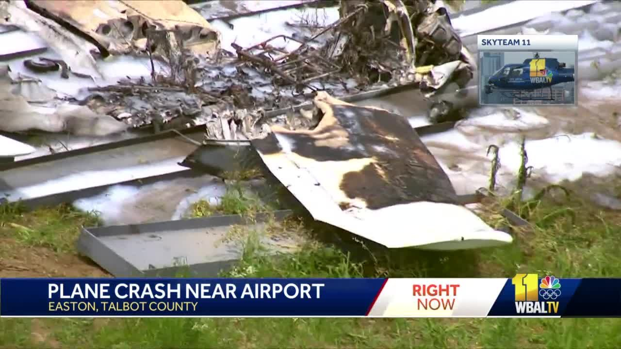 Plane catches fire after crashing into field; Midshipman injured