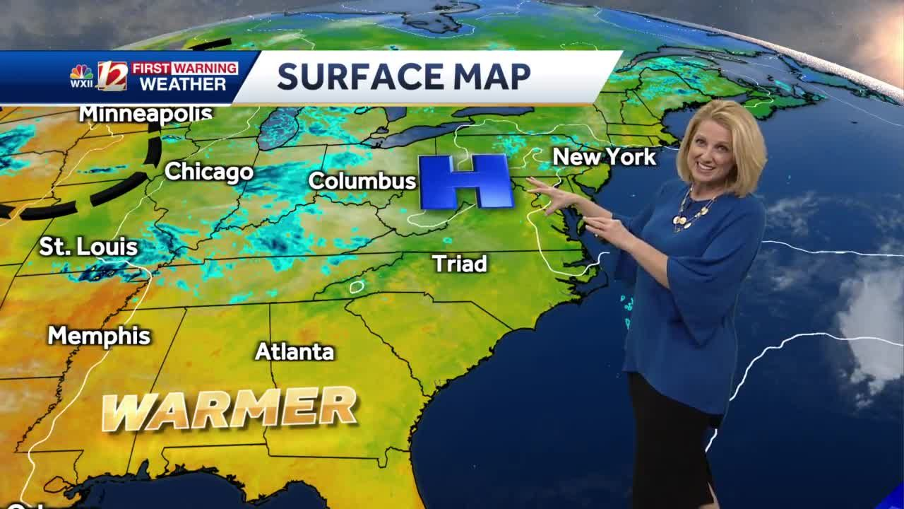 WATCH: Passing Showers Sunday Plus A Warming Trend Late Week!