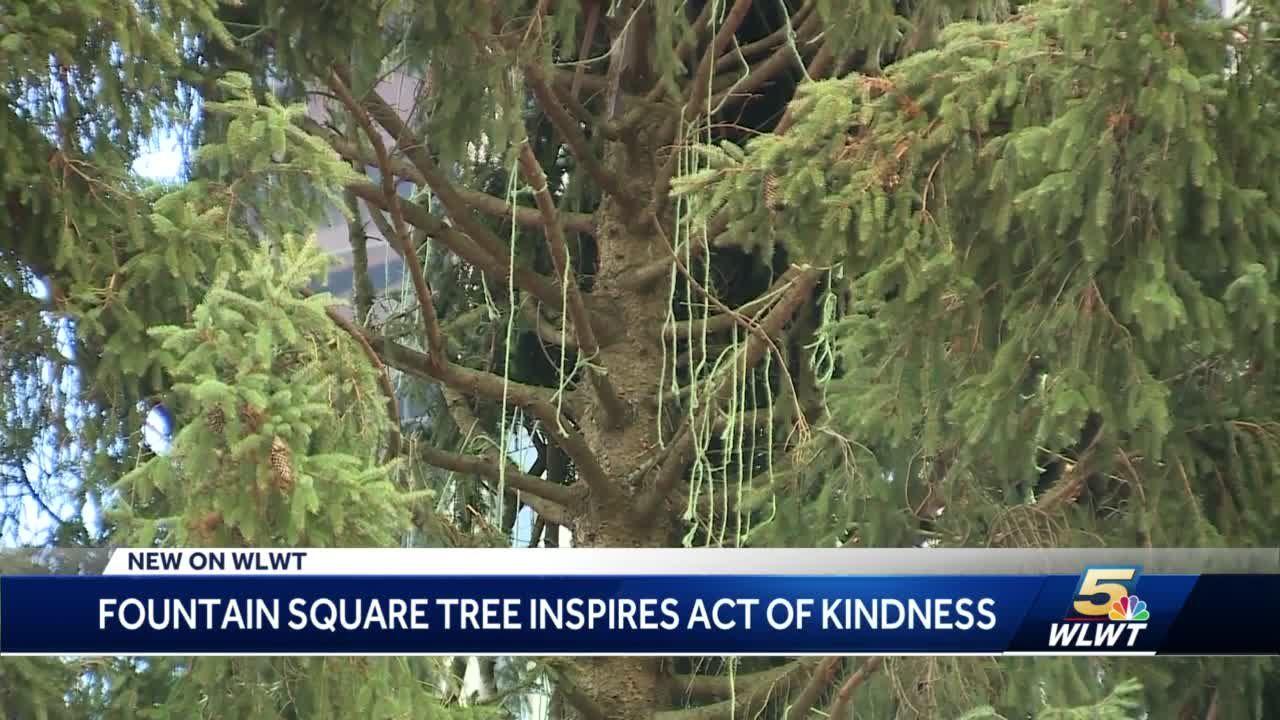 Cincinnati Christmas tree's viral fame inspires Cincinnati woman to give back