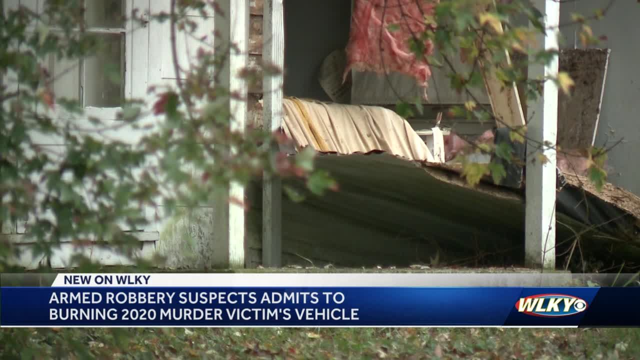 Armed robbery suspect admits to burning murder victim's vehicle in southwest Louisville