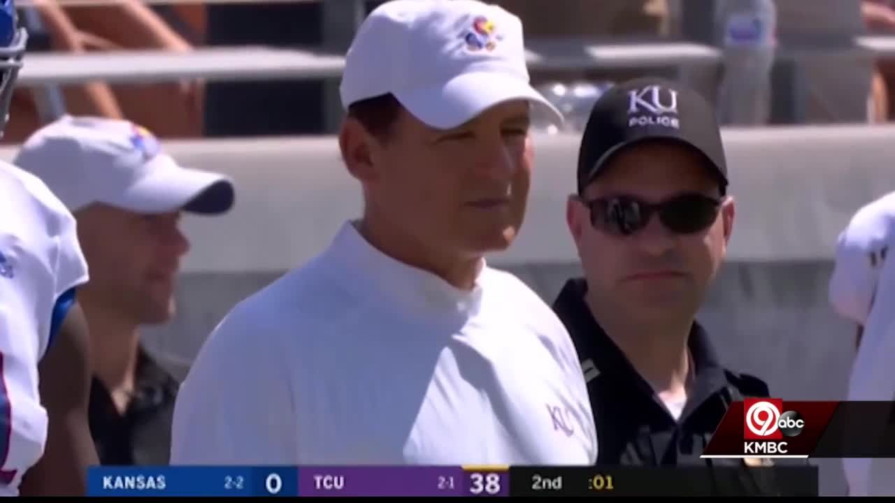 KU places football coach Les Miles on administrative leave