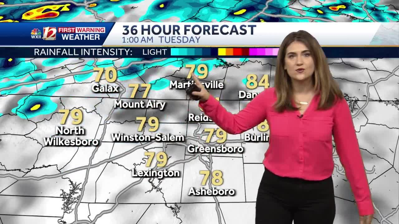 WATCH: Hot, Humid Monday with Shower and Storms Late
