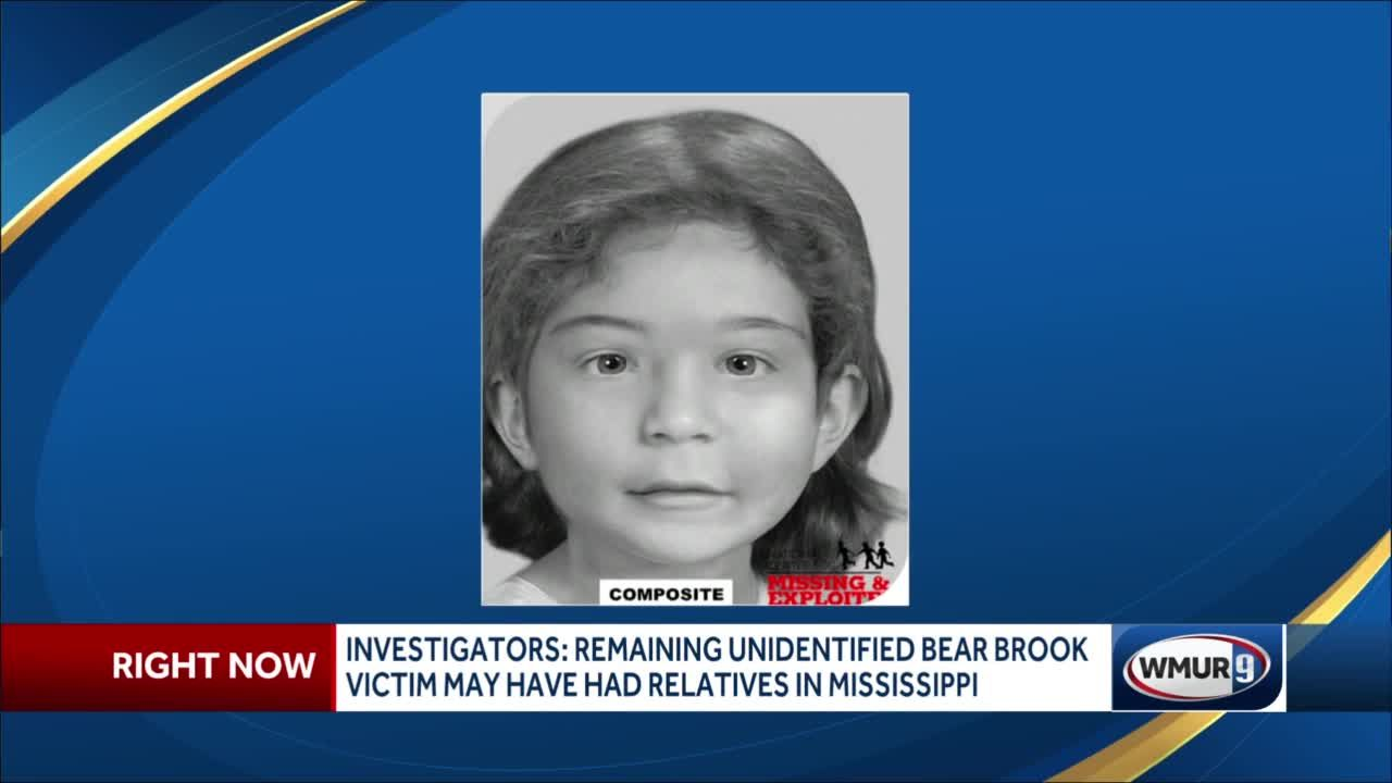 Investigators say remaining unidentified Bear Brook victim may have had relatives in Mississippi