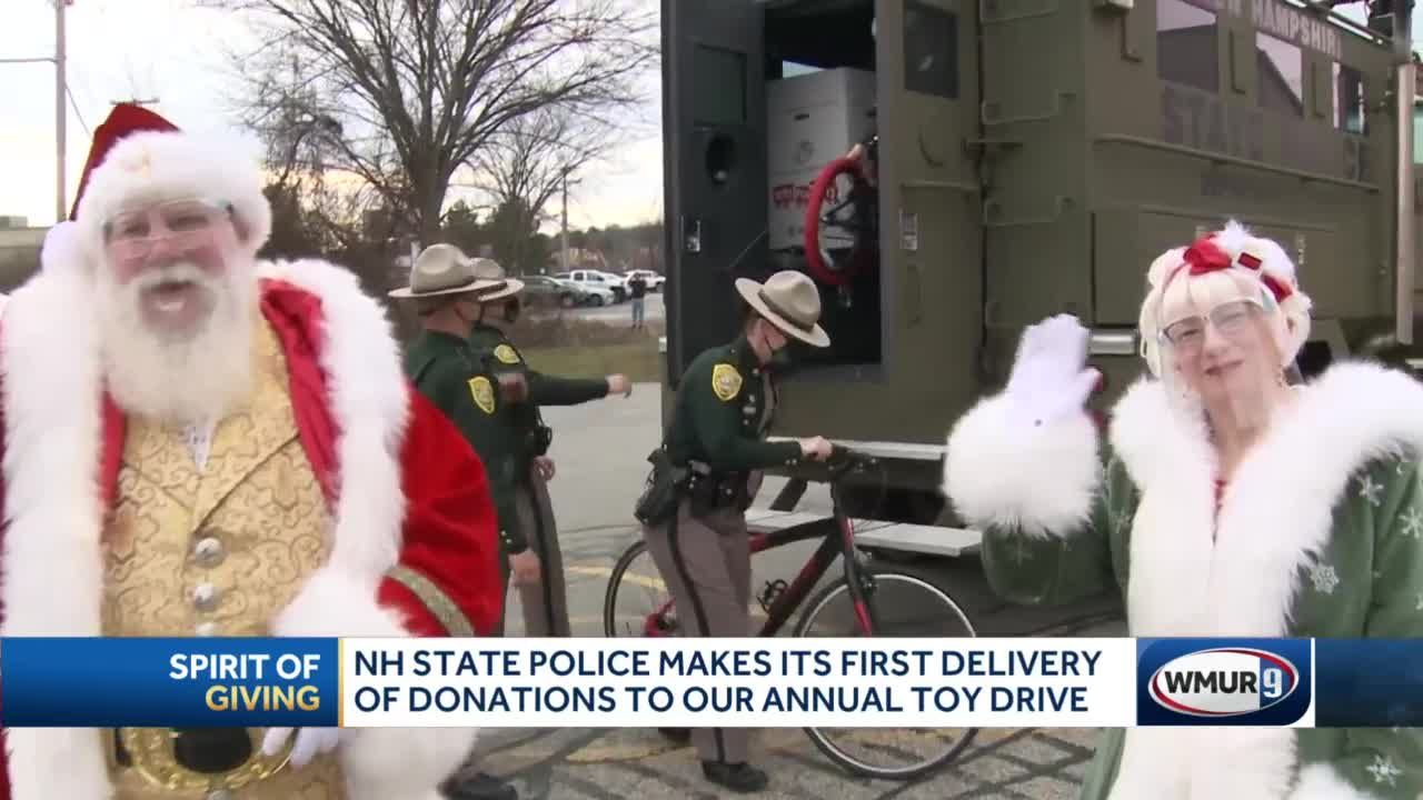 NH State Police makes its first delivery of donations to toy drive