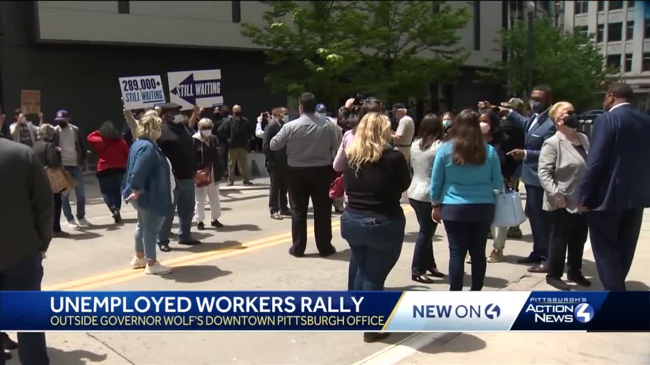 Unemployed workers rally