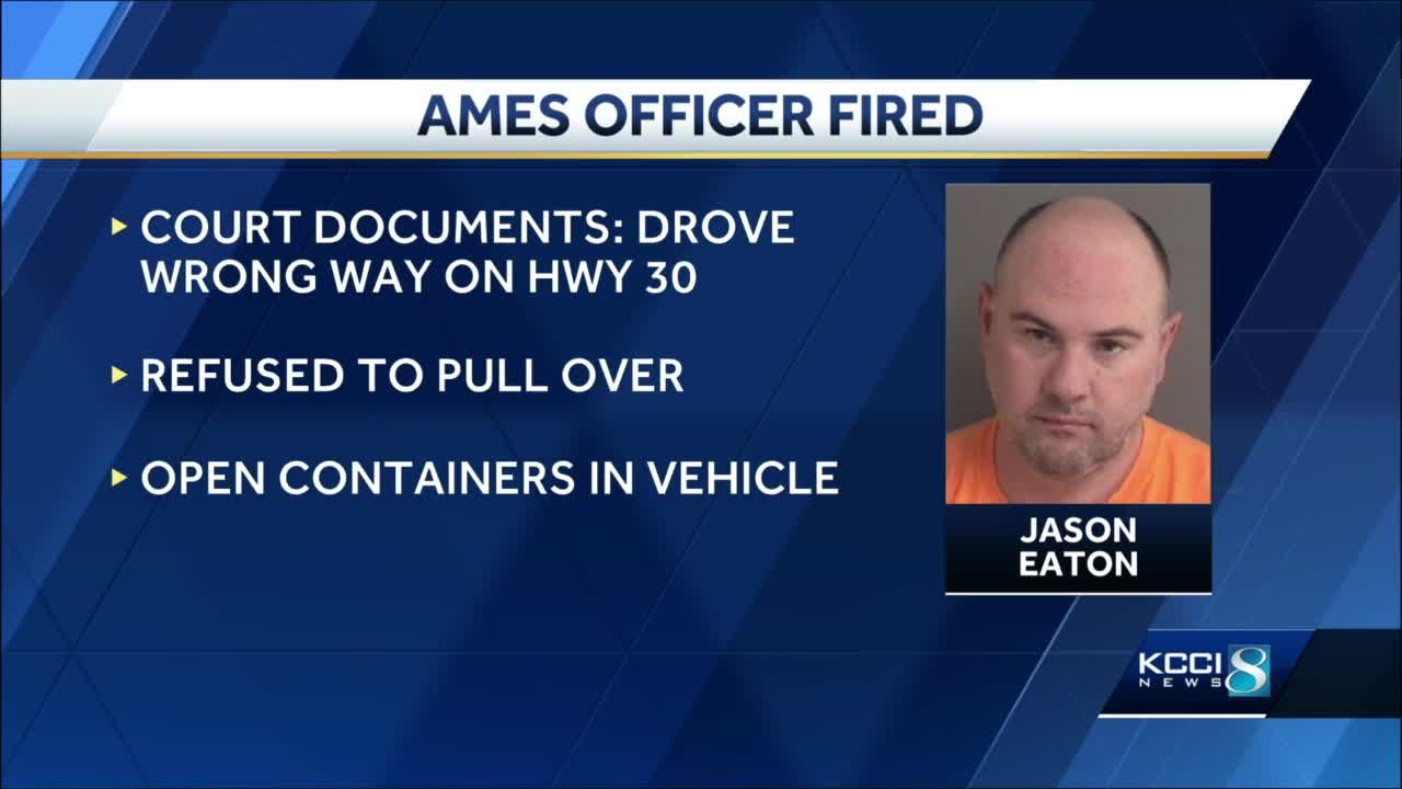 Ames officer fired after drunk driving, leading troopers on chase