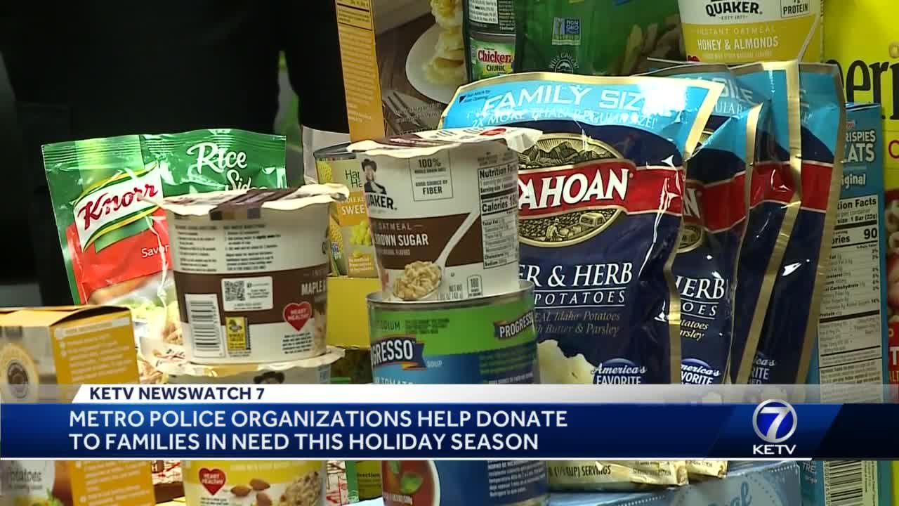 Metro police organizations help donate to families in need