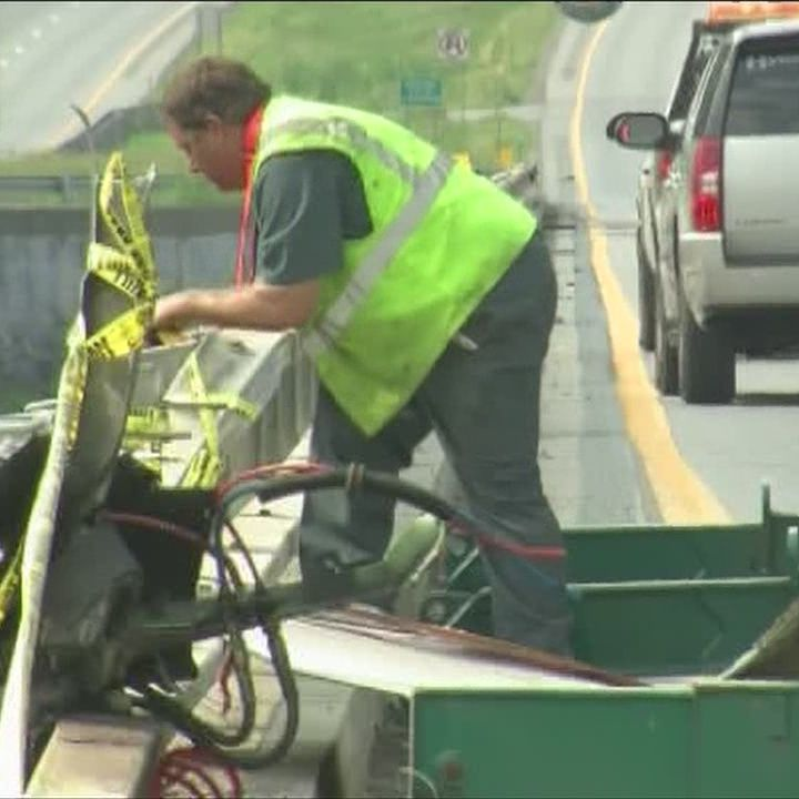 Crews work long hours to clean up I-89 accident