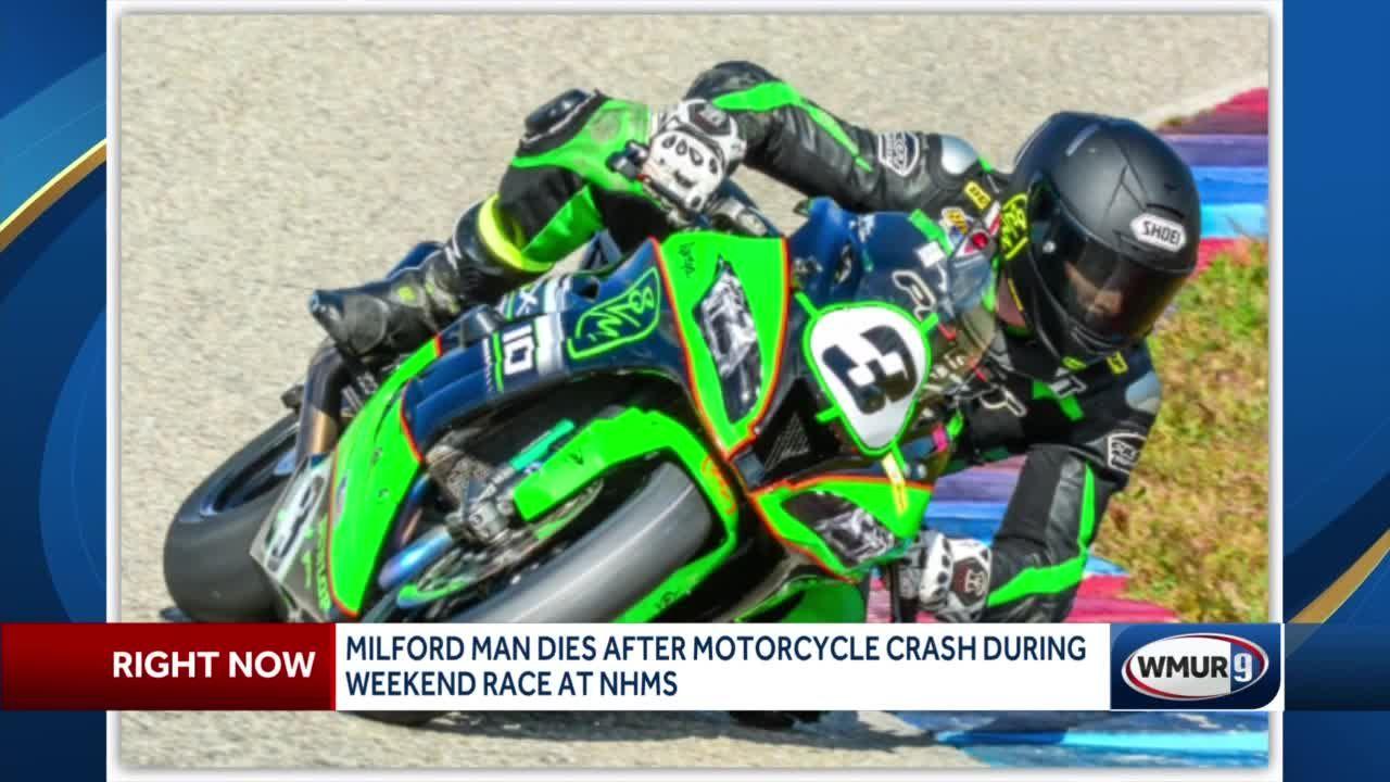 Milford man dies in motorcycle crash during weekend race at NHMS