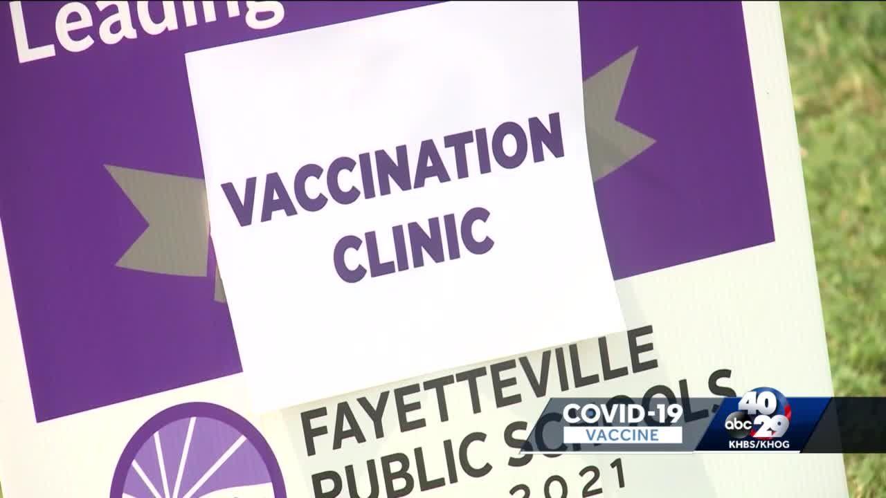 Fayetteville Public Schools hosts vaccine clinic ahead of school year