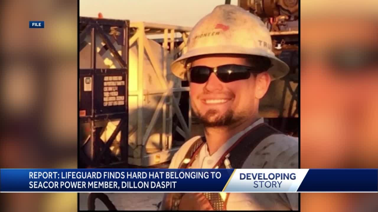 Report: Hard hat of missing Seacor member found in Texas