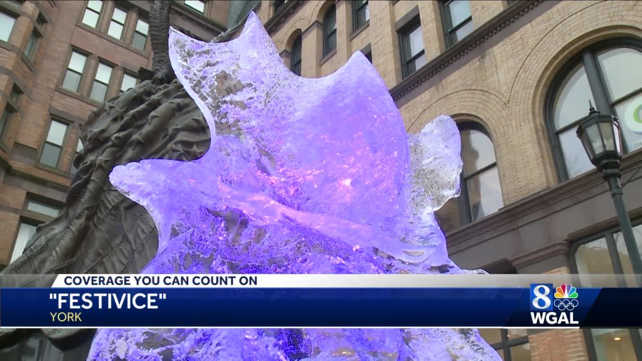 York's FestivIce sculptures are on display until they melt away
