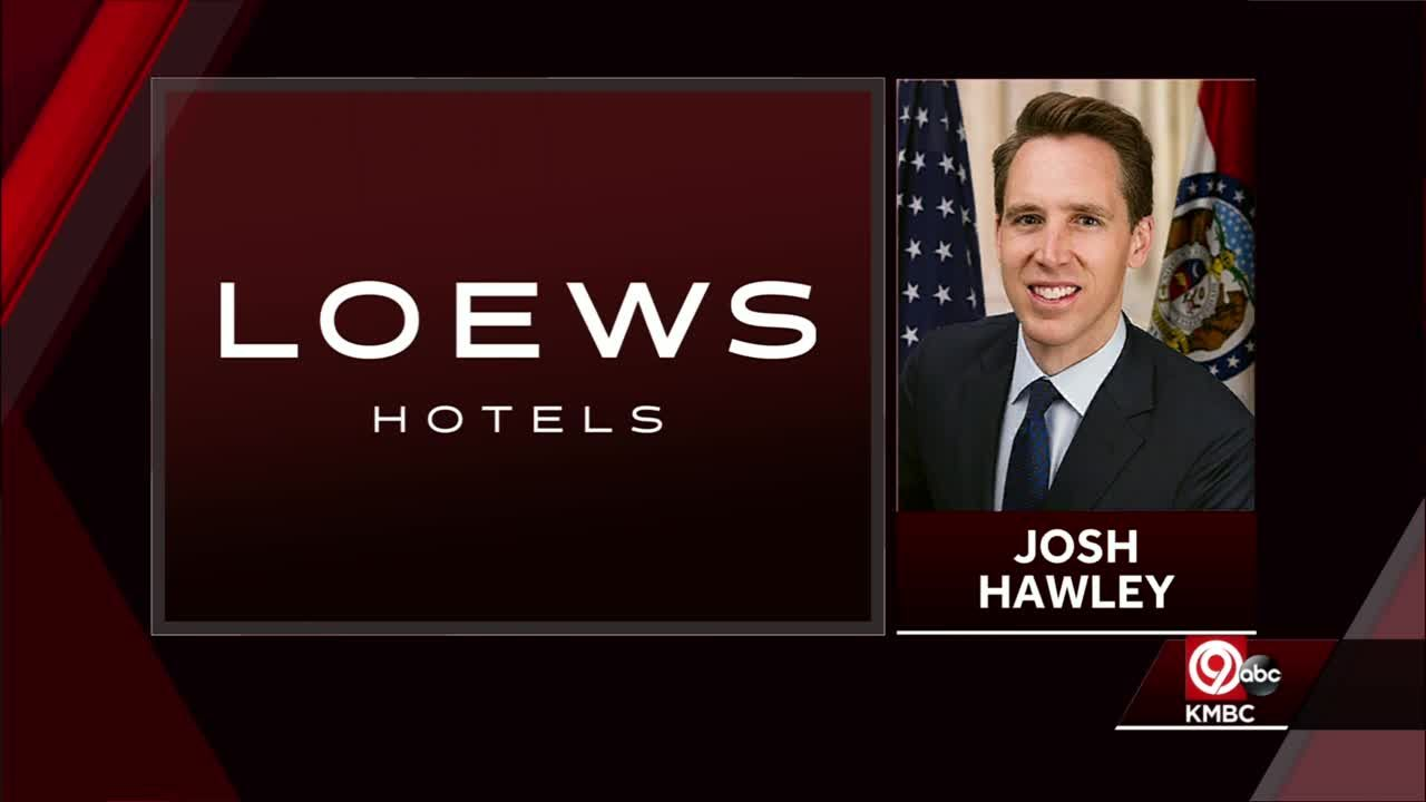 Hotel chain cancels fundraiser for Sen. Josh Hawley