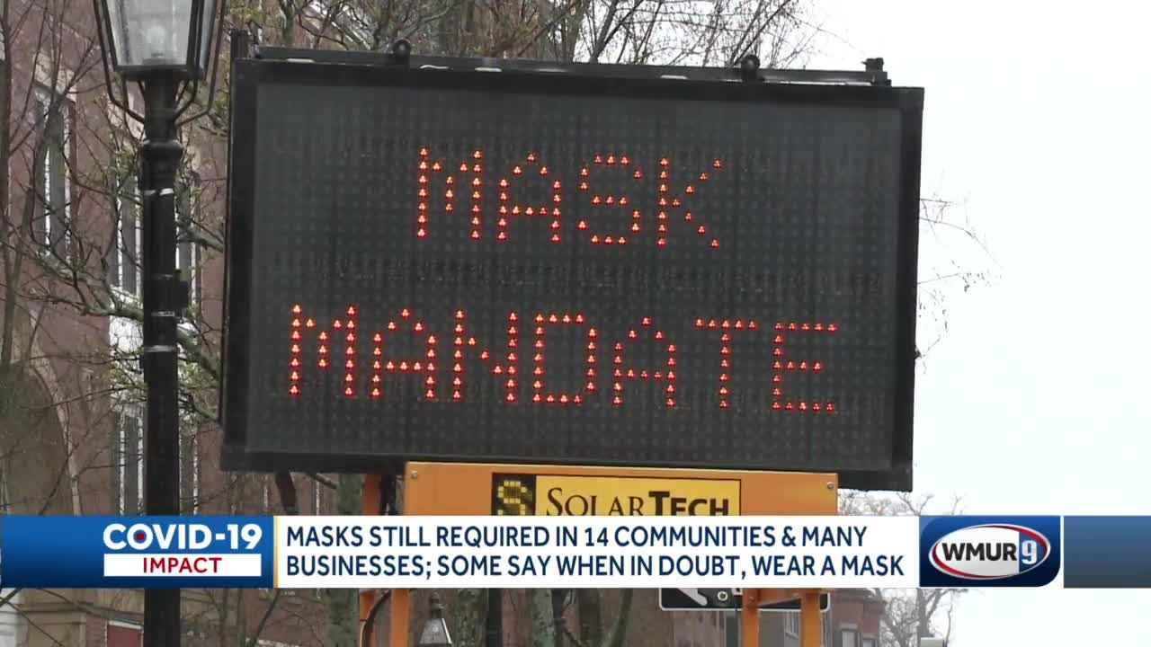 Masks still required in 14 communities, many businesses