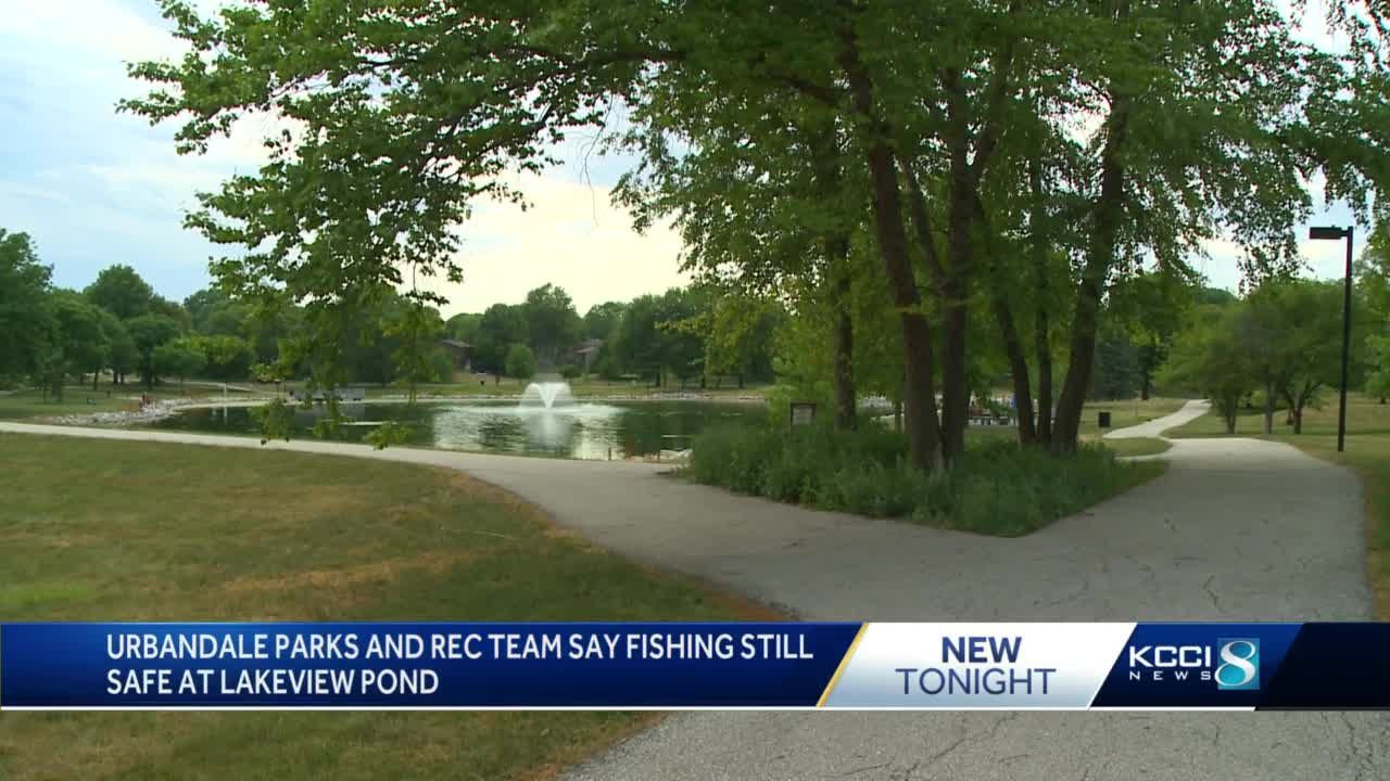 Urbandale Parks and Rec team monitoring Lakeview Pond after treatment kills fish