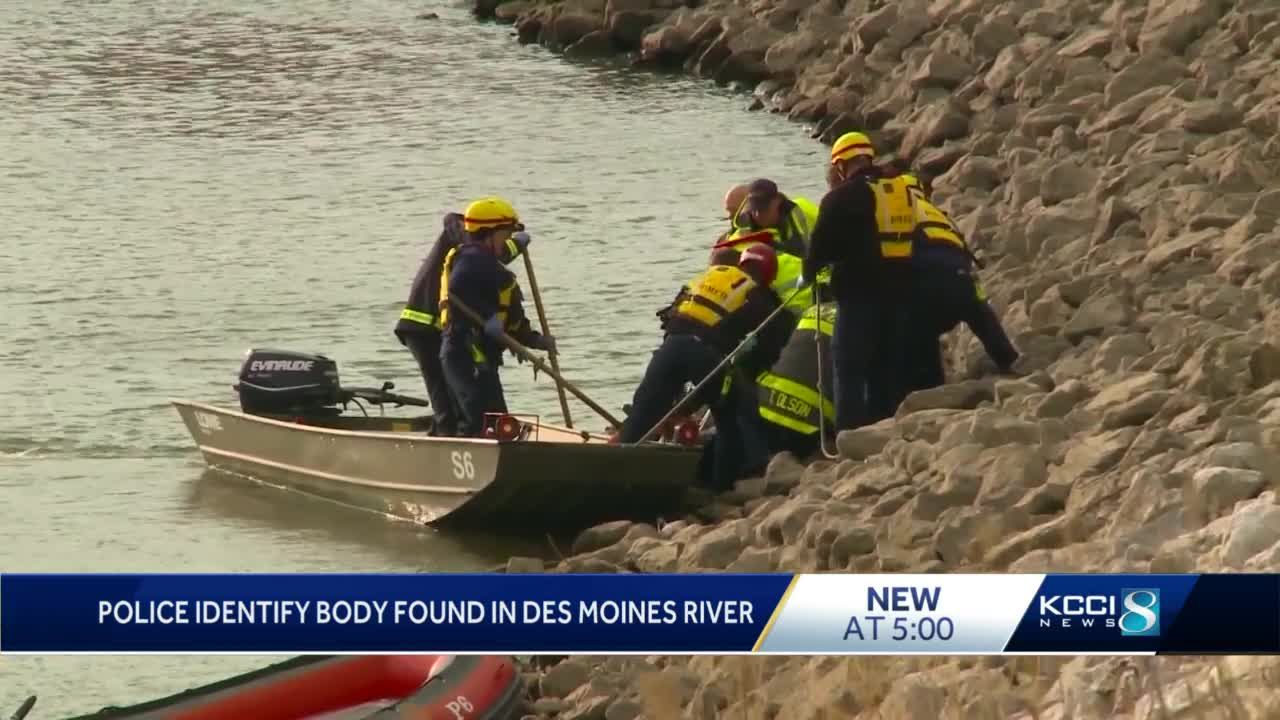 Police ID person found in Des Moines River