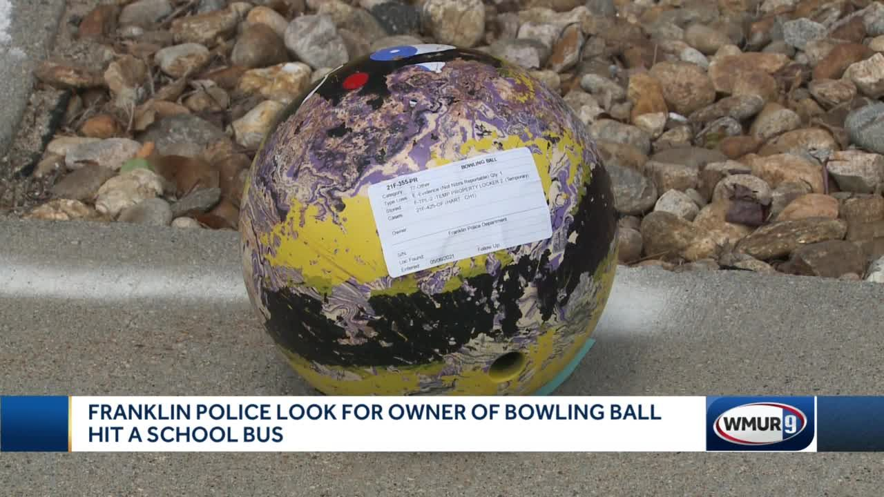 Franklin police looking for owner of bowling ball that hit school bus