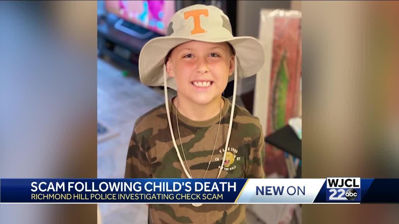 Scammer's take advantage of child's death