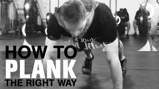The Right Way to Do a Plank