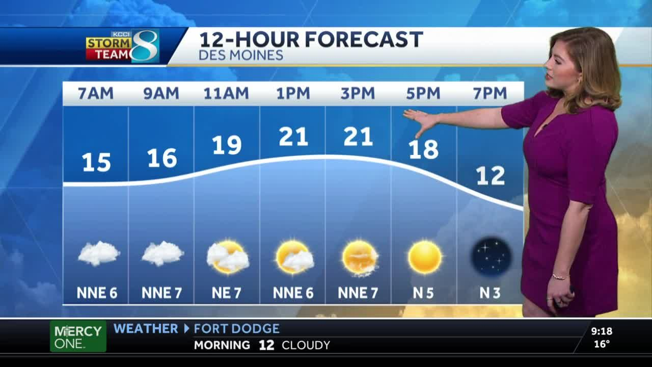 Chilly, partially sunny Wednesday ahead