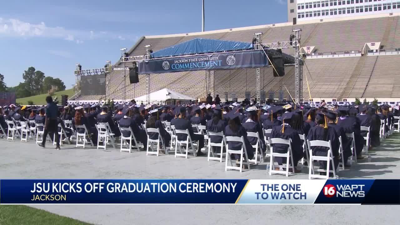Many undergraduates from Jackson State University graduated Saturday