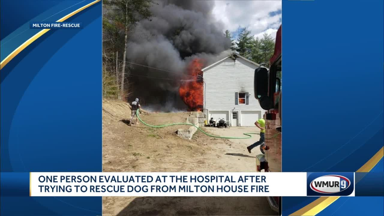 One person injured in Milton house fire trying to rescue dog