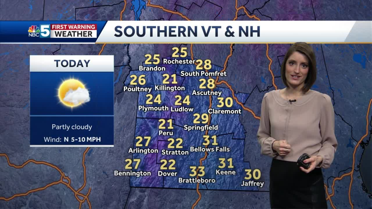 Video: Slightly warmer by Monday afternoon 1/25/21