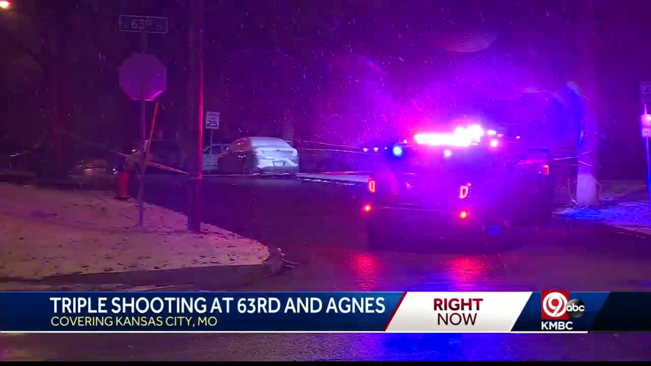 KCPD investigates triple shooting near 63rd, Agnes Friday