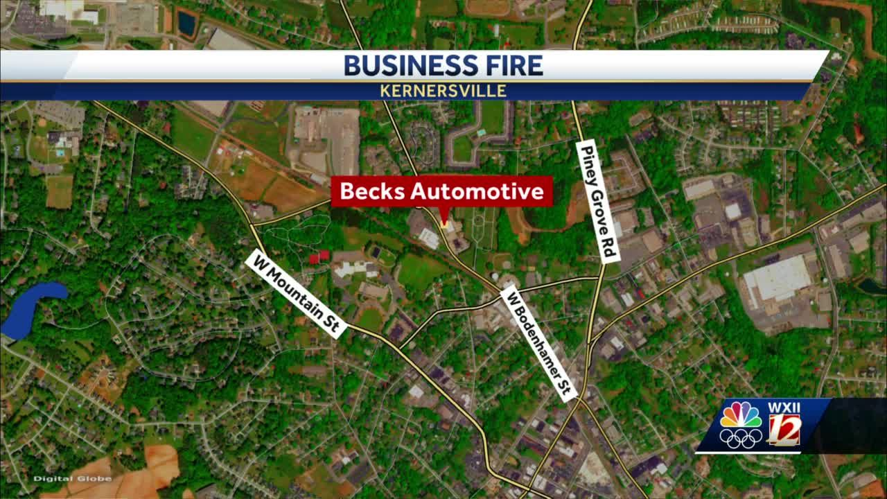 Kernersville firefighters contain fire at Becks Automotive