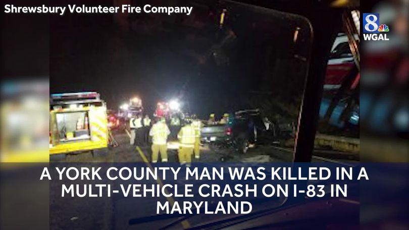 York County man killed in multi-vehicle crash on I-83 in