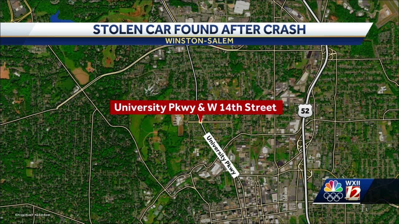 Winston-Salem crash on University Parkway involved stolen car, police say