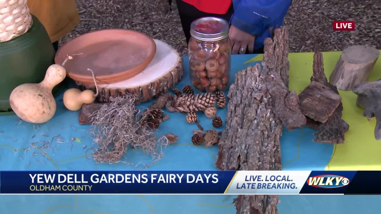 Learn to make a fairy house from artists at Yew Dell Botanical Gardens