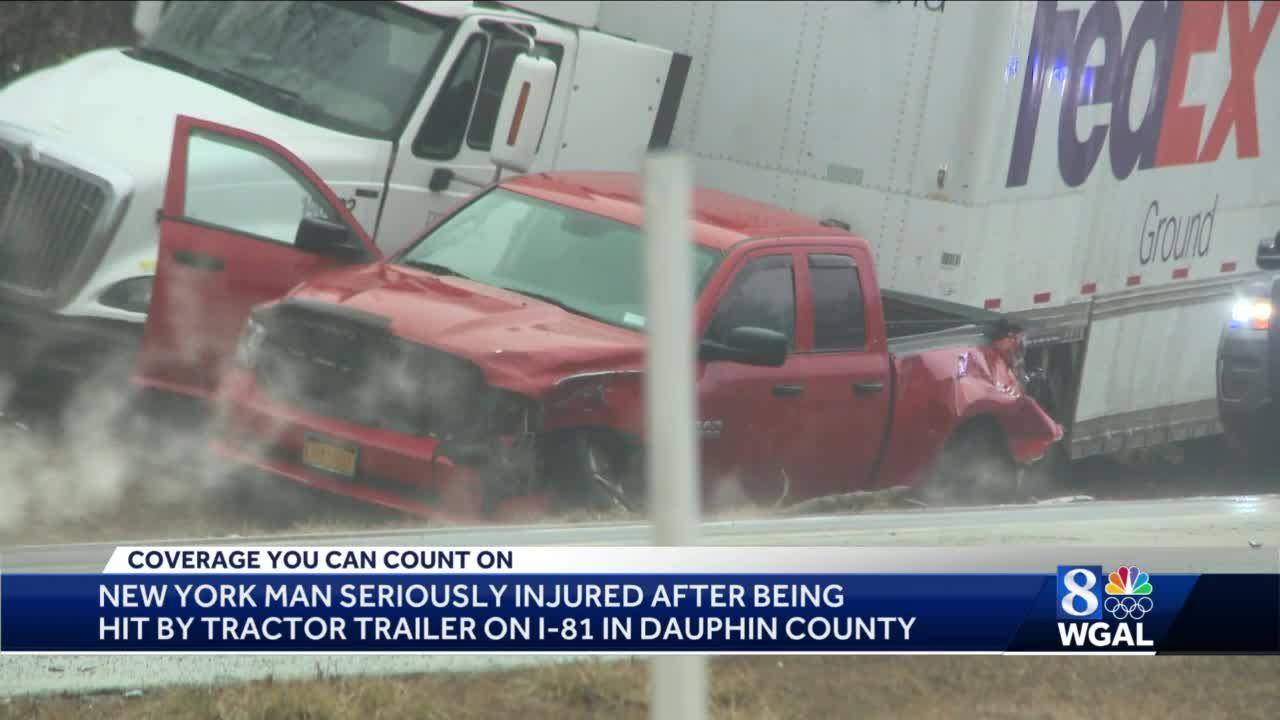 Tractor trailer crash in Dauphin County
