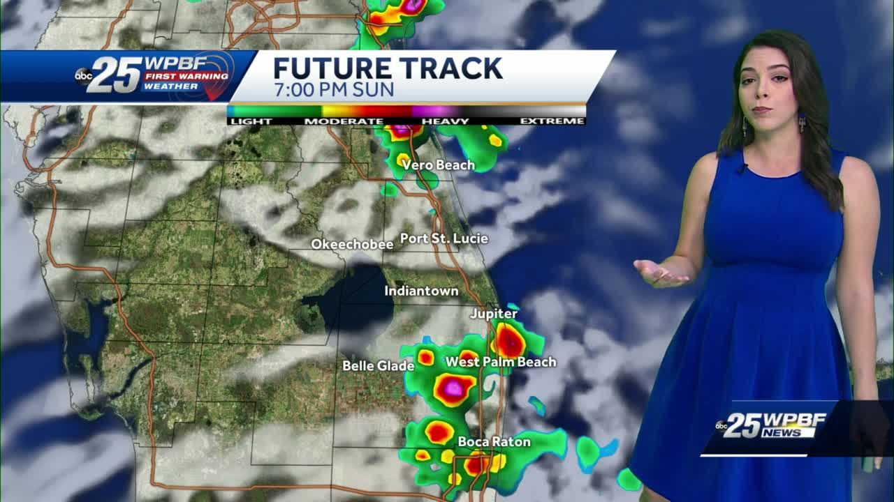 Hot conditions and storms moving through today
