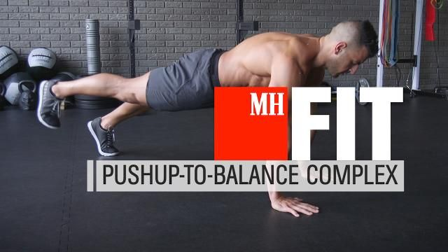 How to Do the Pushup-to-Balance Complex