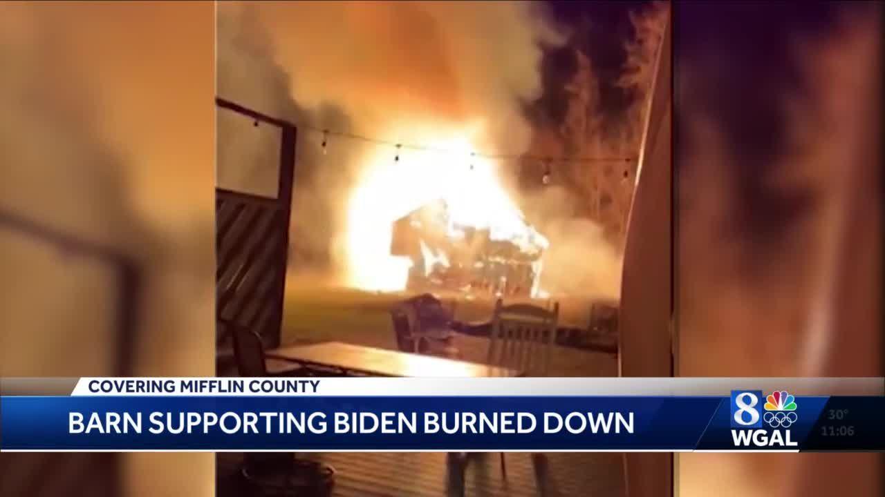 'Biden Barn' burned down