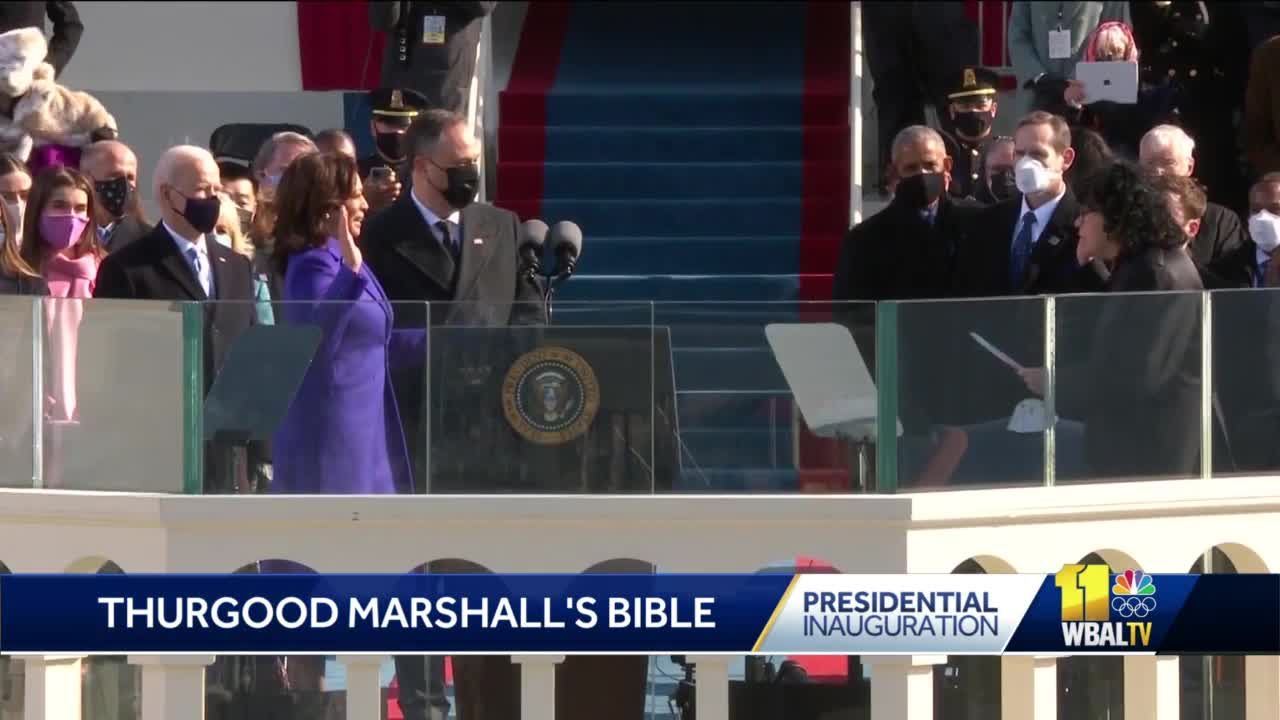VP Kamala Harris requests Thurgood Marshall's bible for ceremony