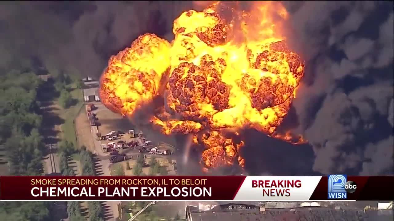 Illinois chemical plant explodes into flames
