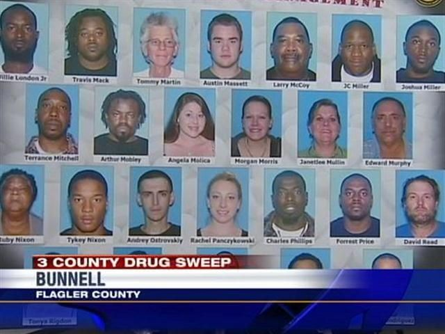 More than 100 people targeted in 3-county drug bust