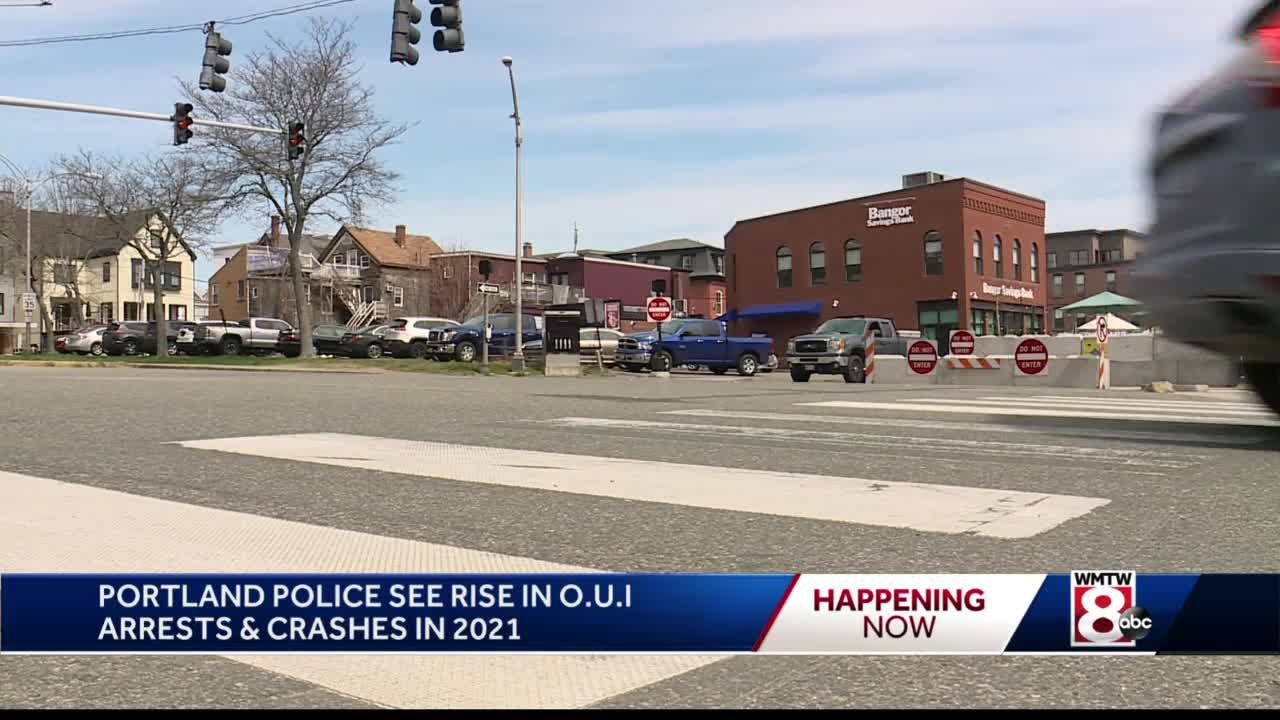 Portland police see rise in OUI arrests and crashes