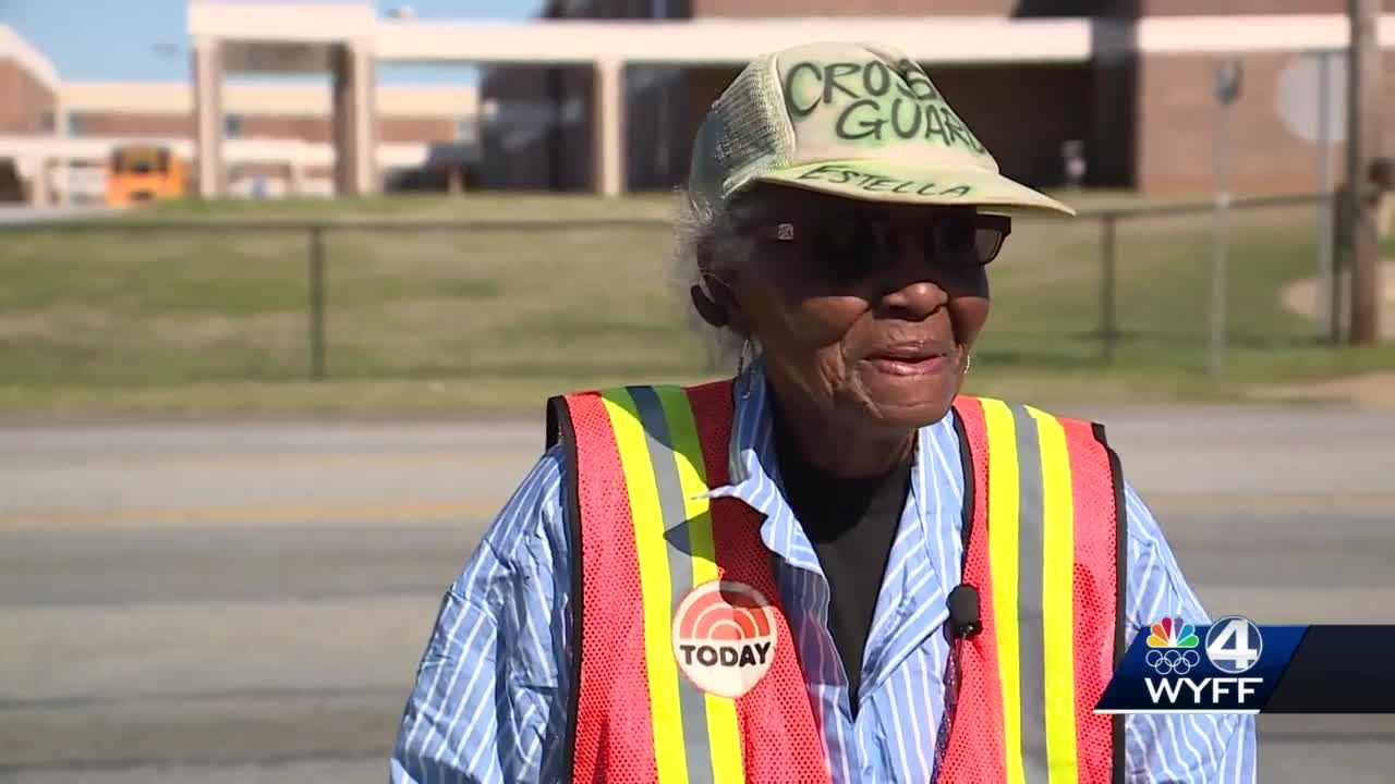 94-year-old crossing guard has no plans to slow down