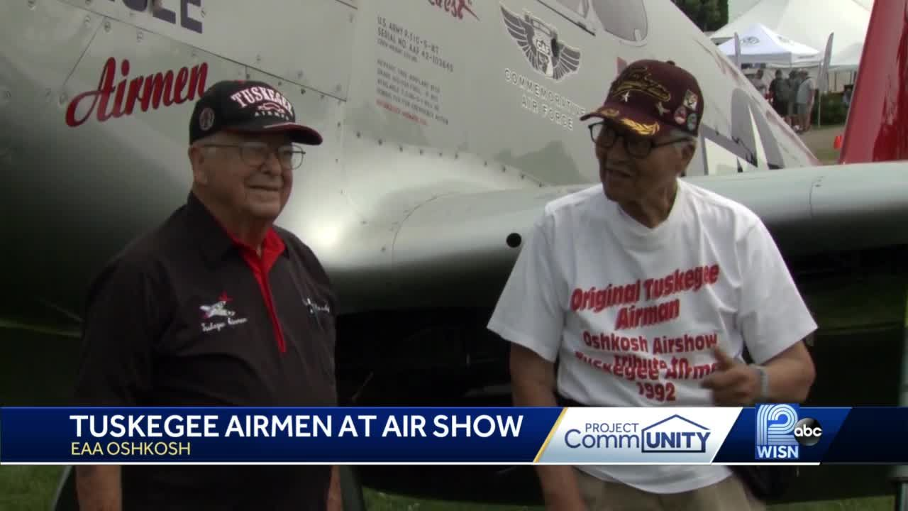 Surviving Tuskegee Airmen share stories of their history at EAA AirVenture