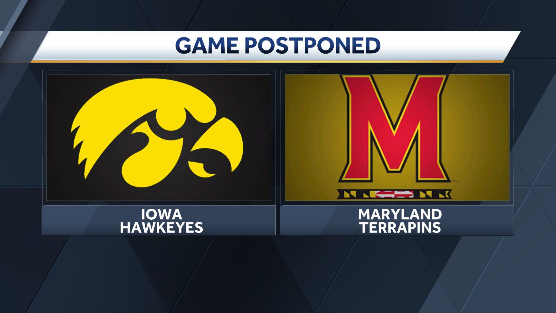 Hawkeyes postpone Maryland matchup