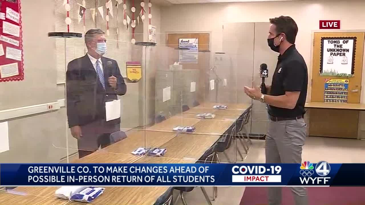 Greenville Co. high schools to make classroom changes ahead of possible return of all students