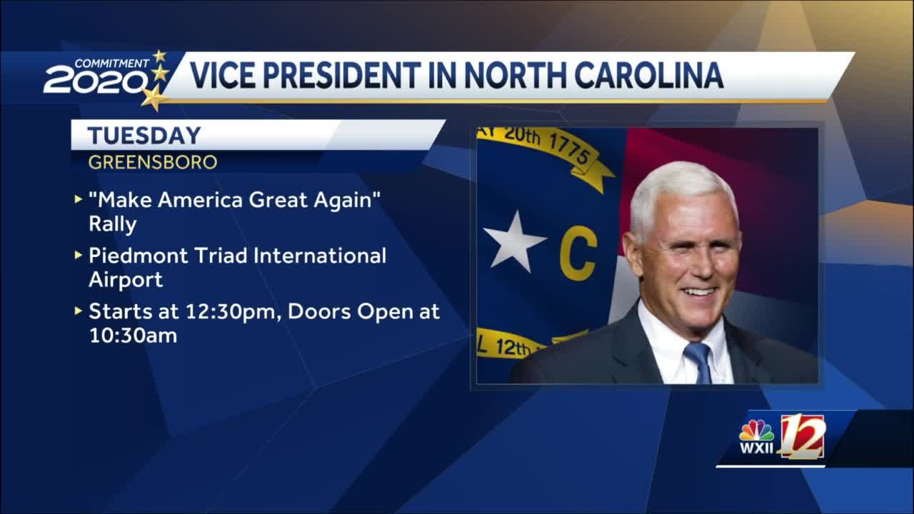 North Carolina campaigns continue for Vice President Mike Pence after chief of staff tests positive for coronavirus