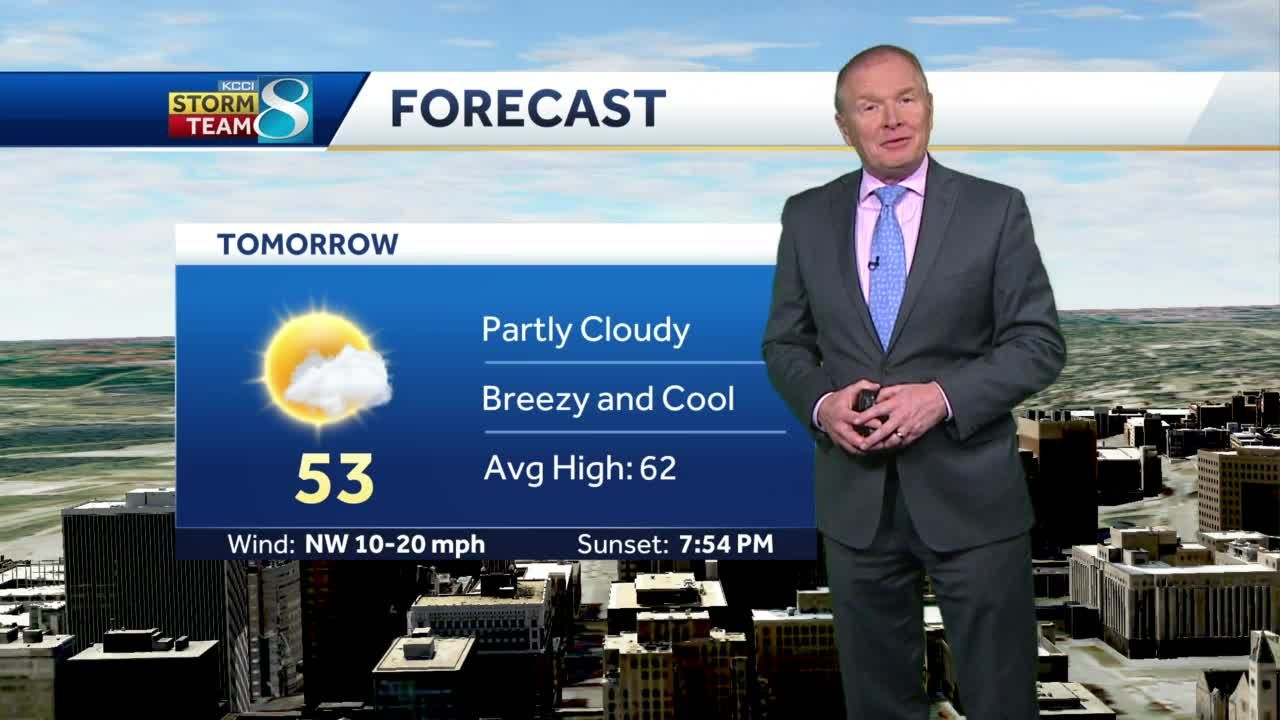 Below-normal temperatures continues Wednesday