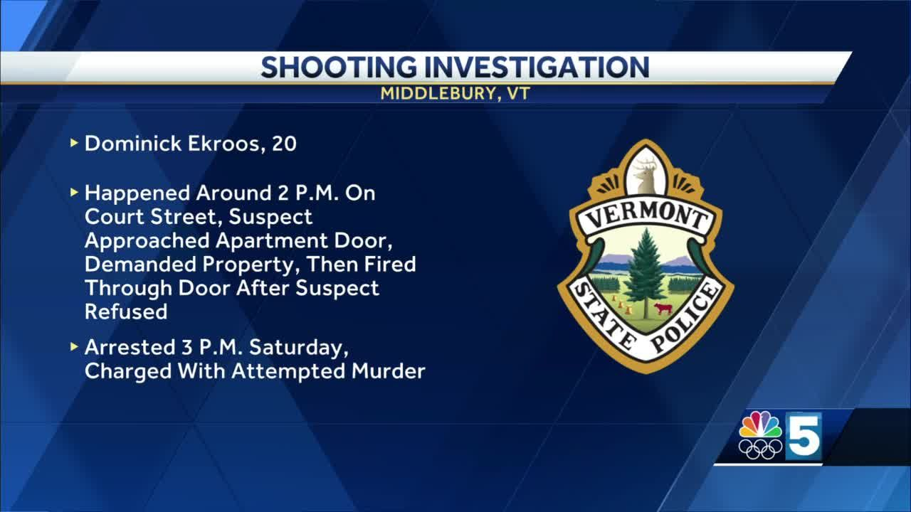 Police are investigating a shooting in Middlebury on Saturday